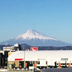 富士山 今日の富士山🗻 静岡市内から 撮影 空気…