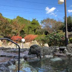 お出かけ/温泉 露天風呂ー〜 清水区の山奥の温泉♨️に来…(3枚目)