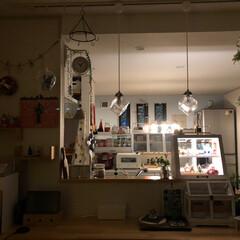 ガラスケース/コンコンブル/キッチン雑貨/キッチン/雑貨/住まい キッチンカウンターに ガラスケース💖ホワ…