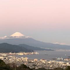 富士山🗻 今日の富士山 夕暮れ時 日本平から清水港(1枚目)