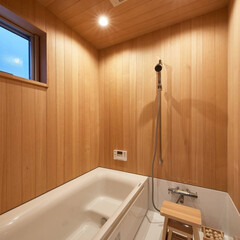 新築/不動産・住宅/滋賀県/ユニットバス/お風呂/木/... 木のお風呂でゆったりくつろぎ時間を・・・…