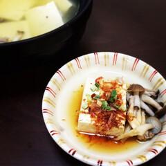ダイエット/湯豆腐/おうちごはん/益子焼/しめじ/お吸い物/... 食欲の秋のダイエットメニュー、湯豆腐◎ …