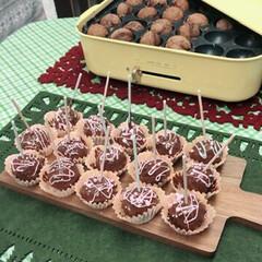 キャンディーポップケーキ/クリスマス/グルメ/スイーツ/ハンドメイド たこ焼き器を使ってキャンディーポップケー…