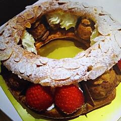 パリブレスト パリブレストです お菓子教室で作りました…