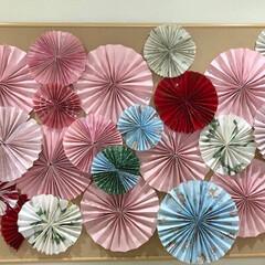 ペーパークラフト/春のフォト投稿キャンペーン/LIMIAインテリア部 職場で春っぽい色合いで飾って玄関が華やか…