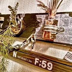 男前雑貨/ガーデン雑貨/ウォールデコ/ウォールナット/壁掛け/サビペイント/... 端材で壁面ディスプレイをDIY。