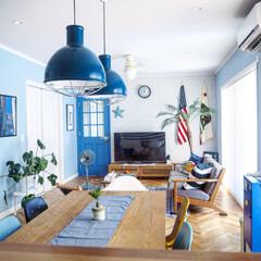 """ポスター/星条旗/IKEA/キャビネット/バーンスター/モンステラ/... """"我が家の暑さ攻略法""""コンテスト用の写真…(2枚目)"""