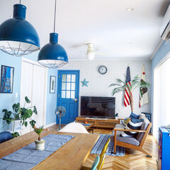 """ポスター/星条旗/IKEA/キャビネット/バーンスター/モンステラ/... """"我が家の暑さ攻略法""""コンテスト用の写真…(3枚目)"""