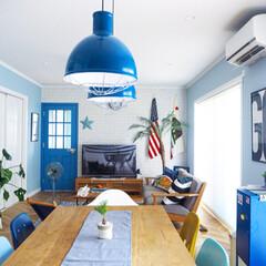 """ポスター/星条旗/IKEA/キャビネット/バーンスター/モンステラ/... """"我が家の暑さ攻略法""""コンテスト用の写真…"""