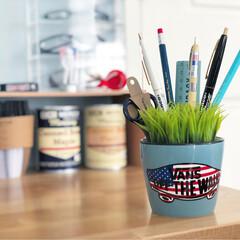 VANS/文房具/パソコンデスク/インテリア雑貨/雑貨/インテリア/... フェイクグリーンみたいなペン立て。 草に…