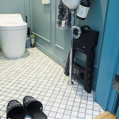 ペンキ塗り/腰壁/ジャーナルスタンダードファニチャー/タオル/アラウーノ/パナソニック/... トイレの中にある棚が高くて物が取りづらい…