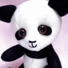 手芸/ハンドメイド/パンダ/ぬいぐるみ/ぬい撮り/癒やし/... パンダ、BASEに移動しました。