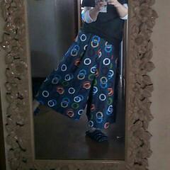 ワイドパンツ/手芸/ハンドメイド あまってた布でワイドパンツ。 股下が短く…