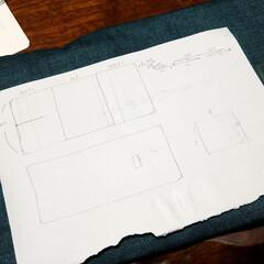 保険証/型紙作り/型紙制作/試し縫い/試作/母の日/... いらない紙に書くのやめたほうがいいと思う。