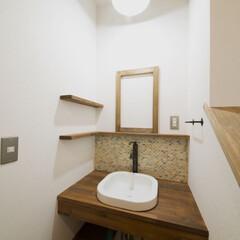 洗面化粧台/モザイクタイル デザイン性にこだわったオーダー洗面台。