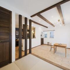 化粧柱/畳/半畳畳/小上がり和室 化粧柱がお家の雰囲気を引き立てます。夏は…