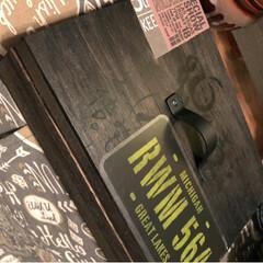 収納/木箱リメイク/100均/ダイソー/セリア バームクーヘンが入ってた木箱をカンタンリ…
