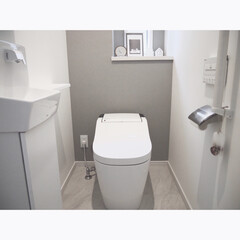 アラウーノ/ウォールシェルフ/壁美人/北欧ナチュラル/北欧モダン/シンプルホーム/... トイレの壁に壁美人のウォールシェルフをつ…