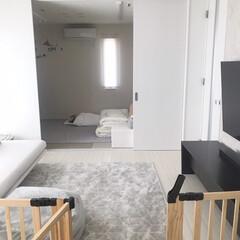 マイホーム記録/マイホーム/赤ちゃんのいる暮らし/赤ちゃんのいる生活/注文住宅/Panasonichomes/... 最適な寝場所☺︎  リビング横の和室。 …