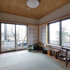 和室/障子/葦天井 庭を愉しむ家。 和室