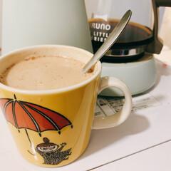 ブルーノ My Littleシリーズ 4-CUP コーヒーメーカー BRUNO ドリップコーヒー コーヒーマシン 保温機能 | BRUNO(コーヒーメーカー)を使ったクチコミ「コーヒーにミルクと蜂蜜たっぷり入れておや…」