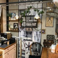 コンクリート柄壁紙/リミアの冬暮らし/100均/DIY/キッチン雑貨/キッチン 赤レンガ壁紙が 縮んでめくれて どーしよ…