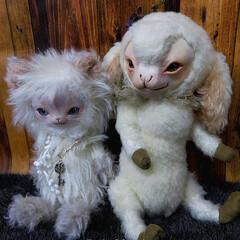 ペット/羊/猫/ネコ/ヒツジ/ぬいぐるみ/... フェイスタイプドールの羊ちゃんと幻想的な…