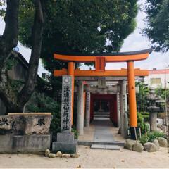 パワースポット/人生初/博多/櫛田神社/おでかけ パワースポットで有名らしい パワースポッ…