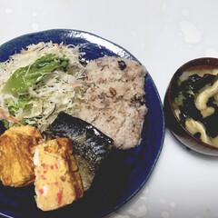 ヘルシー/塩サバ/lunch/おうちごはん 今日のランチ🍴💓 塩サバ美味しかった😋 …