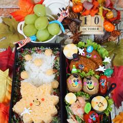 秋のお弁当/もみじ/キャラ弁/デコ弁/お弁当/おうちごはん ◌⑅⃝●♡⋆ᵍᵒᵒᵈ ᵐᵒʳᐢⁱᐢᵍ ⋆…