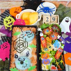 ハロウィン弁当/halloween/ランチ/お弁当/秋/ハロウィン/... ◌⑅⃝●♡⋆ᵍᵒᵒᵈ ᵐᵒʳᐢⁱᐢᵍ ⋆…