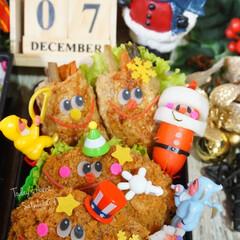 お弁当/キャラ弁/クリスマス弁当/フォロー大歓迎/クリスマス/フード/... ◌⑅⃝●♡⋆ᵍᵒᵒᵈ ᵐᵒʳᐢⁱᐢᵍ ⋆…(3枚目)