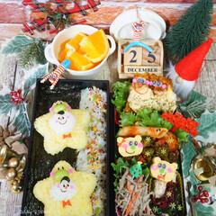 旦那弁当/デコ弁/クリスマス/クリスマス2019/リミアの冬暮らし/お弁当/...  ◌⑅⃝●♡⋆ᵍᵒᵒᵈ ᵐᵒʳᐢⁱᐢᵍ …