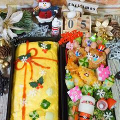 オムライス弁当/オムライス/キャラ弁/デコ弁/クリスマス弁当/お弁当/... ◌⑅⃝●♡⋆ᵍᵒᵒᵈ ᵐᵒʳᐢⁱᐢᵍ ⋆…