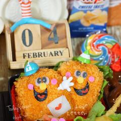 バレンタイン/バレンタイン弁当/旦那弁当/デコ弁/バレンタイン2020/お弁当/... ◌⑅⃝●♡⋆ᵍᵒᵒᵈ ᵐᵒʳᐢⁱᐢᵍ ⋆…(4枚目)