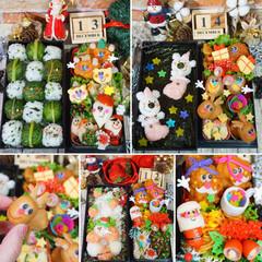 クリスマス弁当/デコ弁/お弁当/フォロー大歓迎/クリスマス/おうちごはんクラブ/... 今週のお弁当----(♥´꒳`*)(*´…