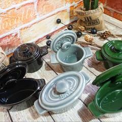 お気に入りのお皿/お皿/ココット/セリア/インテリア/100均/... セリア ココット☛ 新色゚・*:.。❁ …(2枚目)