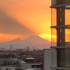 夕日/富士山/旅 昨日の富士山と夕日  タイミング良く モ…