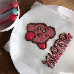 チョコレートペン/手作り/誕生日/カービィ/グルメ/スイーツ/... 明日は8歳の誕生日  ベイクドチーズケー…