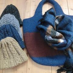 冬の外出/ニット帽/あったか 冬のお出掛け…今日は、どの子を被りましょ…