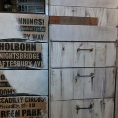 リメイク家具/セリア/セメントバッグ/ⅮIY/収納家具/男前風 洗面収納家具の引き出し部分・・・セメント…