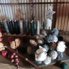 クリスマス/100均ⅮIY/ダイソー/100均/クリスマスツリー/冬仕様/... いつかの毛糸クルクルツリー🎄古なモノと一…