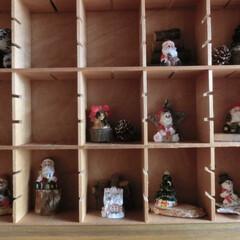 古道具/クリスマス雑貨/天然木/ドライパーツ/ダイソー 古な糸巻きケースの1つ1つに飾って見まし…
