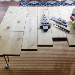 ⅮIY/廃材利用/端材パッチワーク/ミニテーブル/凸凹/作業台/... ⅮIYに興味を持ち始めた頃の『ⅮIY』 …(1枚目)