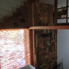 diy201604/木材リサイクル/壁ⅮIY 押入れを解体してもらった時の木材を切った…