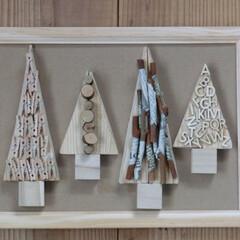 ⅮIY/手作り/端材/木製/ワントーン/ナチュラル雑貨/... 木と木の組み合わせ  端材をギコギコ… …