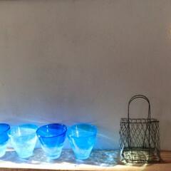 夏インテリア/グラス/和室インテリア/壁インテリア/ⅮIY/ディスプレイ/... もうレトロになりつつある…『夏のグラス』…
