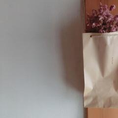 ドライフラワー/簡単インテリア/和室インテリア/クラフト紙 シンプルなクラフト紙袋にドライ・・・和室…