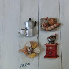 雑貨/インテリア/マグネット/ミニチュア雑貨/カフェ雑貨/セリア/... カフェ系雑貨☕ミニチュア雑貨  ついつい…(1枚目)