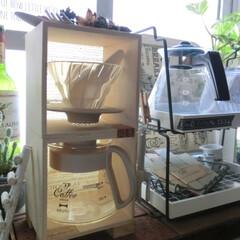 ドリップコーヒー/カフェ/カリタ/HARIO×BRUNO/キッチン道具/100均/... 毎朝の日課…手淹れコーヒー☕ 左側→プレ…